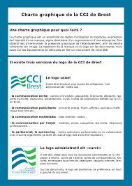 chambre de commerce brest charte graphique cci de brest by christelle issuu