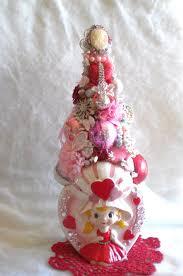 gift decoration sale pink bottle brush tree vintage