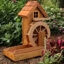 american windmill lawn ornament cedar wood handcrafted outdoor