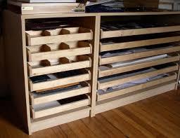 Wood Flat File Cabinet Great Flat Drawer Storage Vintage Industrial Hamilton Wood Flat