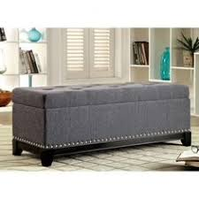 linen storage ottoman bench hastings tufted fabric storage ottoman bench by christopher knight