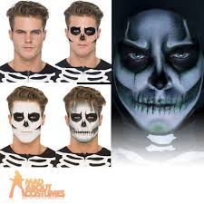 Halloween Skeleton Face Makeup by Skeleton Costume Catsuit Bones Ladies Jumpsuit Halloween