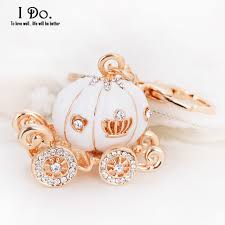 pumpkin carriage free shipping cinderella pumpkin carriage keychain wedding favors