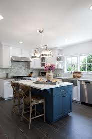 white kitchen cabinets with blue island layout country kitchen designs kitchen island design