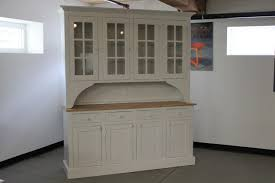 The White China Barn Hand Crafted Custom White 6ft Step Back Hutch From Reclaimed Barn