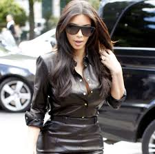 leather blouse in leather looks damn in a black
