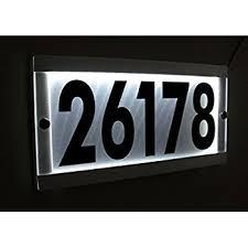 light up address sign custom led lighted address sign illuminated house number