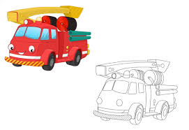 fire engine colored coloring pages kindergarten preschool