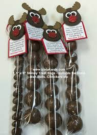 skinny treat bag reindeer stampin up punch art kit makes 4