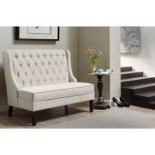 Sette Bench Linen Tufted Upholstered Settee Bench Free Shipping Today