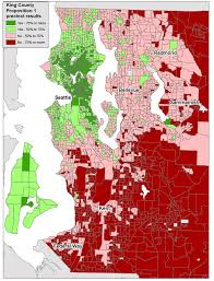 seattle map by county map only seattle lake forest park favored prop 1 tax increase