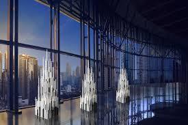 very large 5 foot tall geometric modern art deco candelabra