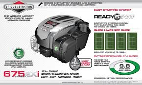 introducing the briggs and stratton 675exi engine gardenlines