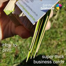 Extra Thick Business Cards Printing Blog Printing Brisbane