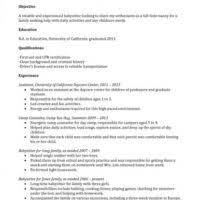 Nannies Resume Sample by Professional Nanny Resume Template Example Featuring Experience