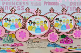 birthday and baby shower invitations handmade princess birthday