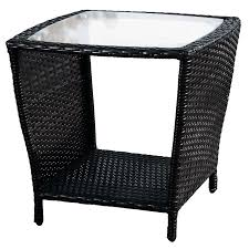 white wicker side table home loft concept woodland outdoor wicker side table with glass top