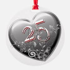 anniversary christmas ornament silver anniversary christmas ornament cafepress