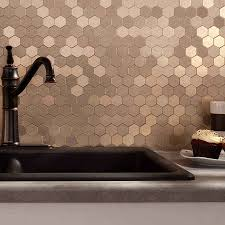 picture of aspect honeycomb champagne matted backsplash concrete