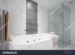 stylish clean bathroom shower bath tub stock photo 116302129