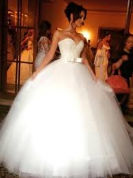 wedding dresses pictures gown tulle sweetheart sleeveless floor length with bowknot
