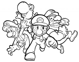mario luigi coloring pages fablesfromthefriends com