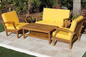 Deep Seat Outdoor Furniture by Deep Seat Teak Set U2013 4 Seat Including Full Sunbrella Cushions