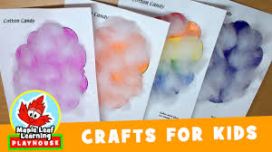 cotton candy craft for kids maple leaf learning playhouse youtube