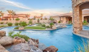 Lazy River Pools For Your Backyard by Staycation In Your Own Backyard U2013 Resort Style Designs Phoenix