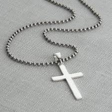 man cross necklace images Men 39 s sterling silver cross and chain by hurleyburley man jpg