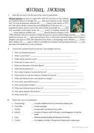 25 free esl michael jackson worksheets