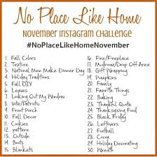 Challenge Instagram No Place Like Home November Instagram Challenge Sweet Parrish Place