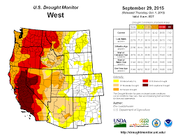 Wildfires California September 2015 by September 2015 Drought And Impact Summary