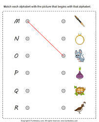 matching letters to pictures m to r worksheet turtle diary