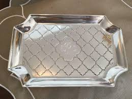 engraved tray engraved casablanca vanity tray the monogram merchant