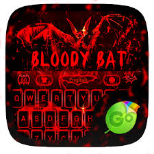go keyboard theme apk bloody bat go keyboard theme apk