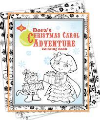 free dora christmas coloring sheets