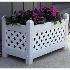 dura trel large rectangle vinyl cottage planter box hayneedle