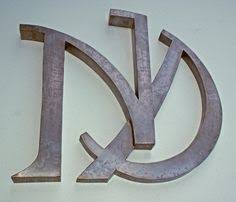 though of you wxyzjewelry metal letters freestanding initials