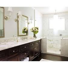 Subway Tile Backsplash Bathroom - bathrooms soothing blue walls chair rail subway tiles back