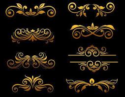 golden luxury ornaments vectors graphic 01 vector ornament free