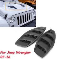 jeep louvers pair power louvers engine inlet vents cover 10th for jeep