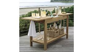 Outdoor Bar Table Regatta Dining Chair Crate And Barrel