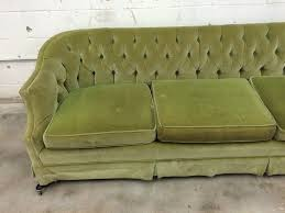 Tufted Vintage Sofa Before U0026 After Vintage Tufted Sofa Goes From Skirted To Stunning