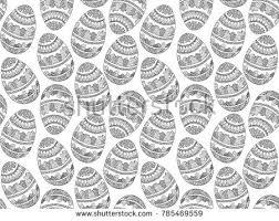 creative pattern photography easter zentangle eggs pattern ethnic creative stock illustration