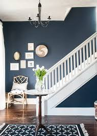 before u0026 after a navy blue entryway earnest home co