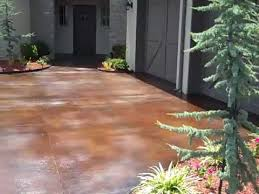 Stain Concrete Patio Yourself Acid Stained Concrete Driveway Youtube