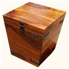 storage trunk coffee table wood square kokanee storage trunk coffee side table