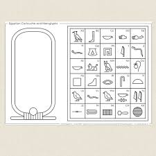 egyptian cartouche and hieroglyphs cleverpatch scouts