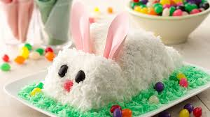 Easter Cake Decorations Recipes by Easter Bunny Cake Recipe Bettycrocker Com